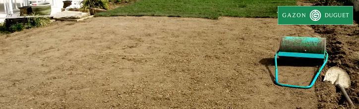 Préparation du sol pour la pose de gazon en rouleau