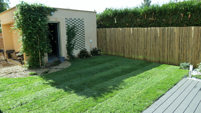 pelouse posée dans le 91